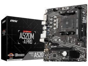 MSI A520M-A PRO AMD A520 Chipset (Socket AM4) Micro-ATX Motherboard