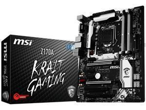 *B-stock - manufacturer refurbished, signs of use* - MSI Z170A KRAIT GAMING Intel Z170 Socket 1151 ATX Motherboard