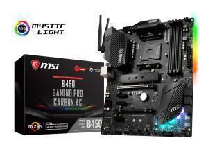 MSI AMD Ryzen B450 GAMING PRO CARBON AC WiFi AM4 ATX Motherboard