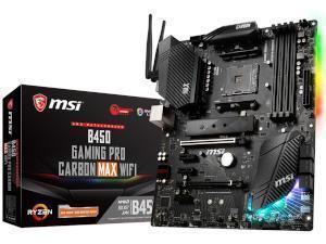 MSI B450 GAMING PRO CARBON MAX WIFI AMD B450 Chipset Socket AM4 ATX Motherboard