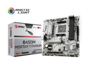 MSI B450M Mortar Titanium AMD AM4 B450 Chipset Micro-ATX Motherboard