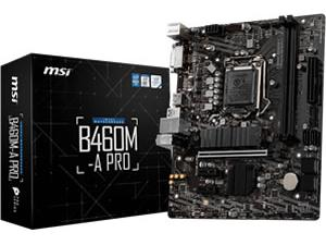 MSI B460M-APro LGA1200 B460 Chipset Micro-ATX Motherboard