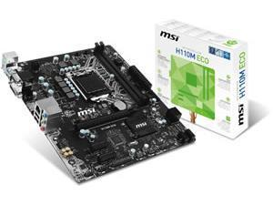 MSI H110M ECO Intel H110 Socket 1151 Micro ATX Motherboard