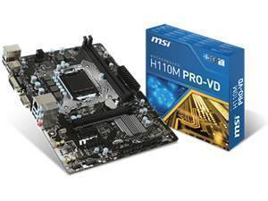 MSI H110M PRO-VD Intel H110 Socket 1151 Micro ATX Motherboard