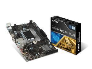 MSI H110M PRO-VH Plus Intel H110 Socket 1151 Micro ATX Motherboard OEM - Motherboard and Backplate Only