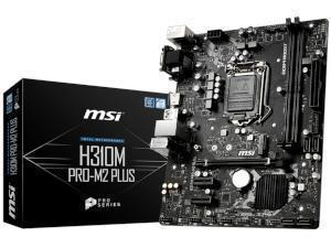 MSI H310M PRO-M2 PLUS Intel H310 Chipset Socket 1151 Micro-ATX Motherboard