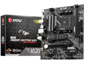MSI MAG A520M VECTOR WIFI AMD A520 Chipset Socket AM4 Micro-ATX Motherboard