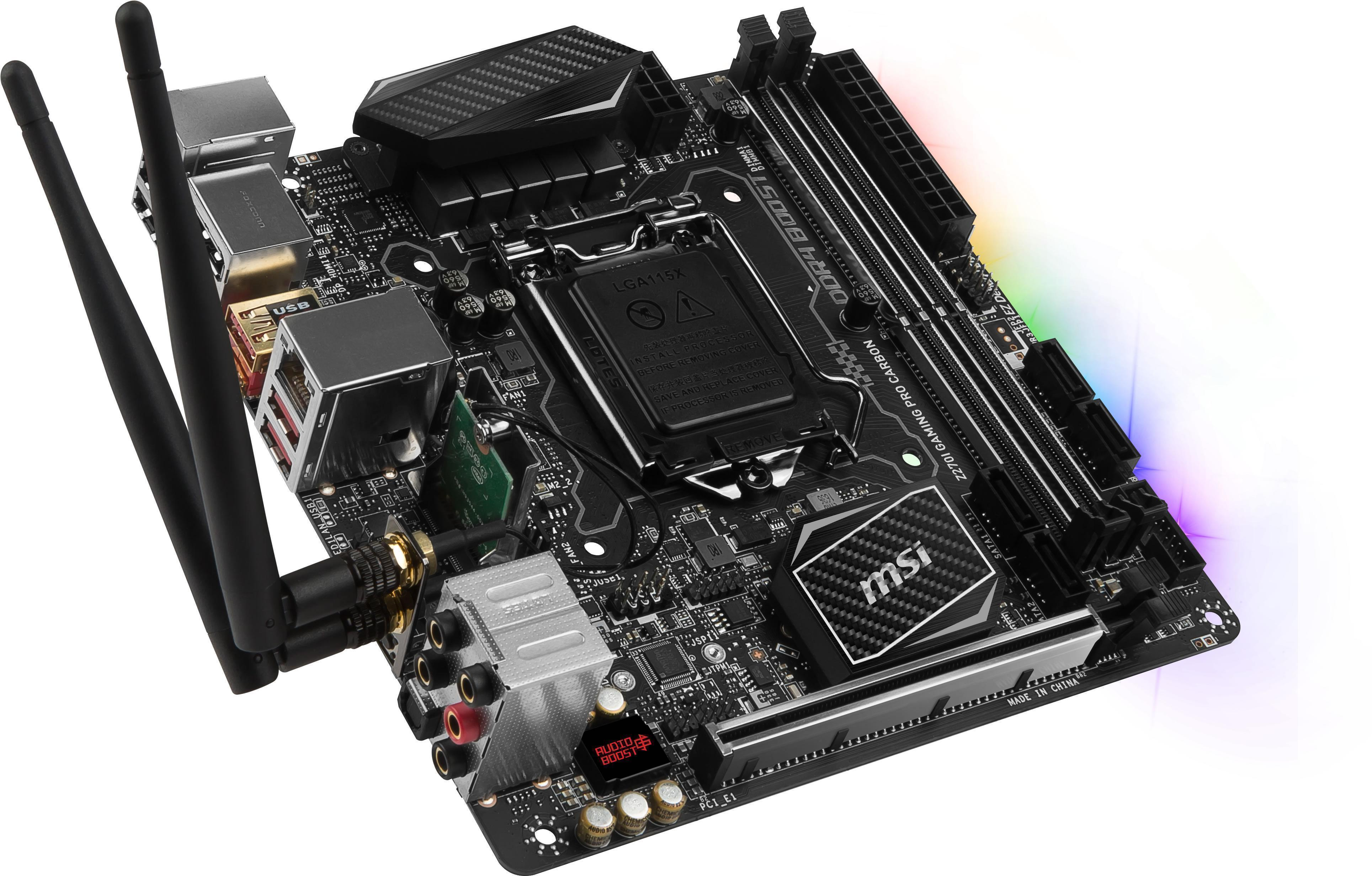 MSI Z270I GAMING PRO CARBON AC Intel Z270 So...