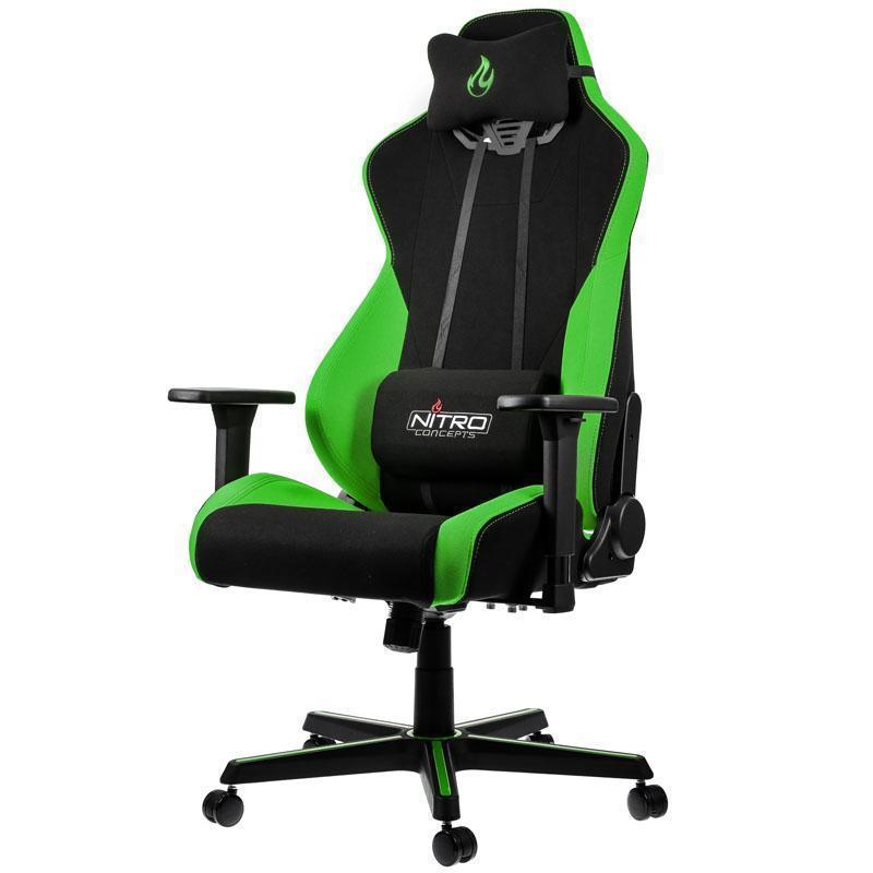 Brilliant Nitro Concepts S300 Fabric Gaming Chair Atomic Green Ibusinesslaw Wood Chair Design Ideas Ibusinesslaworg