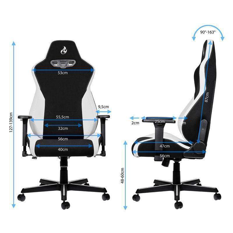 Nitro Concepts S300 Fabric Gaming Chair Radiant White