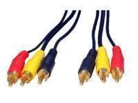 3x RCA - 3x RCA Gold Plated cable 10m
