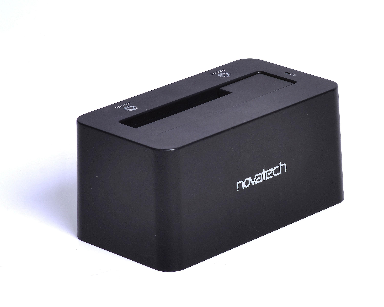 Novatech 25inch And 35inch Sata Hdd Ssd Docking Station V2 Usb Bracket Black Metal 25 Inch To 35 30