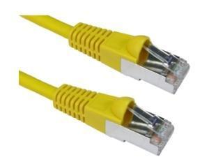 CAT6A Patch Cable 3m Yellow, LSZH, 10GBASE-T, S/FTP, Snagless Connectors