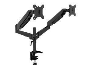 *B-stock item-90 days warranty*Novatech 15inch-27inch Dual Monitors Arm Mount - Clamp/Grommet - Gas Spring - Black