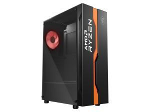 MSI MAG VAMPIRIC 011C Mid Tower Gaming Computer Case Black AMD RYZEN Edition