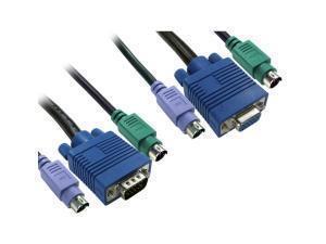 NEWlink 1.8m 2x M-M PS/2 Andamp; 1x SVGA M-F KVM Cable