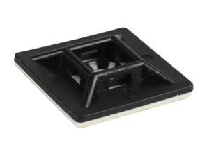 Adhesive Cable Tie Base in Black 19mm x 19mm 100pk