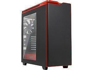 *Ex-display item-90 days warranty*NZXT H440 Black plus Red Mid Tower Case