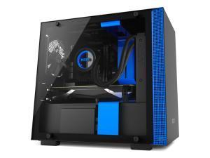 NZXT H200 Matte Black and Blue Mini-ITX Tower PC Case