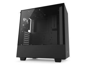 NZXT H500 Matte Black Compact Mid-Tower Case with Tempered Glass