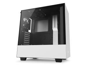 NZXT White H500 Tempered Glass Window Midi PC Gaming Case