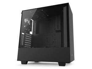 NZXT H500i Matte Black Compact Mid-Tower Case with Tempered Glass - Smart Control