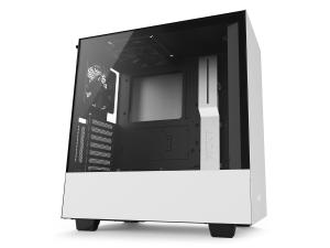 NZXT H500i Matte White Compact Mid-Tower Case with Tempered Glass - Smart Control