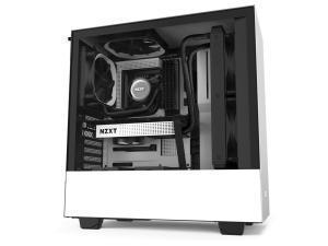 NZXT H510I Compact ATX Mid Tower - Tempered Glass White