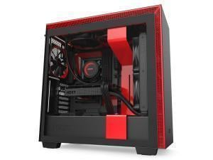NZXT H710 ATX Mid Tower - Tempered Glass Black/Red