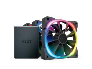 NZXT Aer RGB2 120mm Fan - 3 x 120mm PWM Fan with Hue 2 Controller