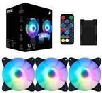 1st Player ARGB Fan Kit 3 x 12cm Fans / 1 x Remote Control