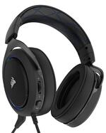 CORSAIR HS50 STEREO Gaming Headset, Blue