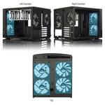 Fractal Design Node 804 Mini ITX case, Black, Windowed