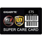 GIGABYTE £75 Super Care Card extended warranty insurance card