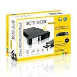 Icy Box Black Internal Trayless Module for 1 x 2.5inch and 1 x 3.5inch SATA HDDs in 5.25inch bay