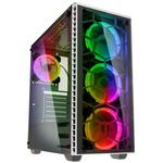 Kolink Observatory Midi Tower RGB Gaming Case - White Tempered Glass Window