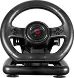 SPEEDLINK Black Bolt Racing Wheel for PC with Vibration Effects and Pedals, Black