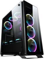 Sahara P35 Black ATX tempered glass ARGB Gaming case