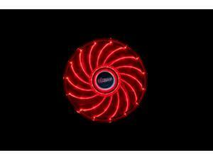 12cm Vegas 15 Red LED fan with anti-vibe dampening pads