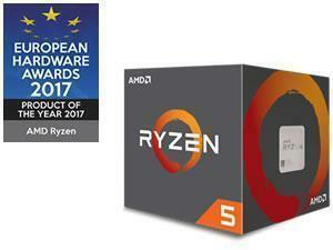 AMD Ryzen 5 1600 Six-Core Processor with Wraith Spire no LED 95W cooler