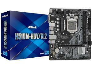 *B-stock item - 90 days warranty*ASRock H510M-HDV/M.2 Intel H510 Chipset (Socket 1200) Motherboard