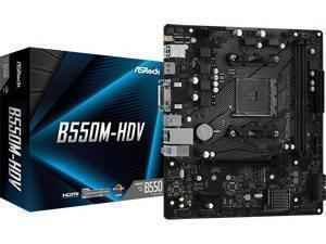 ASRock B550M-HDV AMD AM4 B550 Chipset m-ATX Motherboard