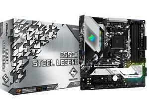 ASRock B550M Steel Legend AMD AM4 B550 Chipset m-ATX Motherboard