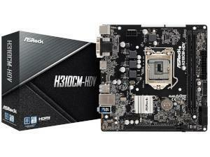 ASRock H310CM-HDV Intel H310 Chipset Socket 1151 Micro-ATX Motherboard