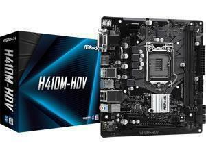 ASRock H410M-HDV LGA 1200 H410 Chipset Micro ATX Motherboard
