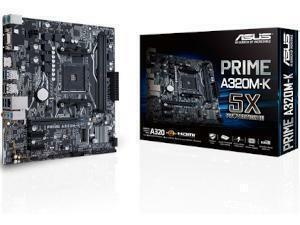 *B-stock item - 90 days warranty*ASUS PRIME A320M-K AMD A320 Chipset Socket AM4 Micro-ATX Motherboard
