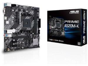 *B-stock item - 90 days warranty*ASUS PRIME A520M-K AMD A520 Chipset Socket AM4 Micro-ATX Motherboard