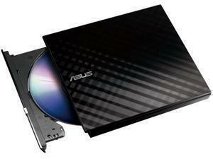 *B-STOCK ITEM -90 DAYS WARRANTY*ASUS SDRW-08D2S-U 8x Black Slim External DVD Re-Writer USB Retail