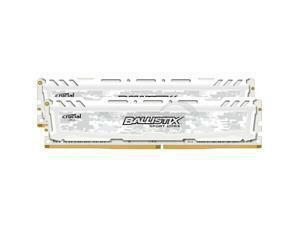 Ballistix Sport LT 8GB (2x4GB) DDR4 PC4-19200C16 2400MHz Dual Channel Kit - White
