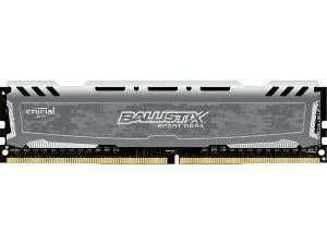 Ballistix Sport LT Gray 4GB DDR4 PC4-19200 2400MHz Single Memory Module